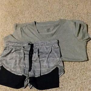 Reebok shorts and t-shirt
